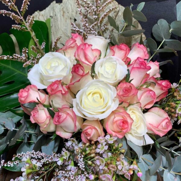 Mixture of pink and white roses, Mother's Day
