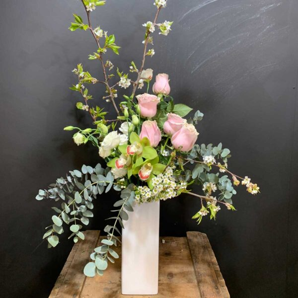 Tall Design of pastel flowers, Mother's Day